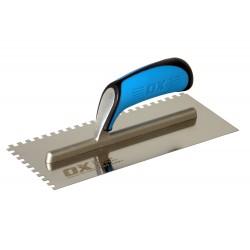 OX Pro Plâtresse dentelée  INOX Soft Grip 28x12cm 6x6x6mm