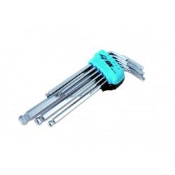 OX Pro Jeu de 9 clés six pans 1.5-2-2.5-3-4-5-6-8